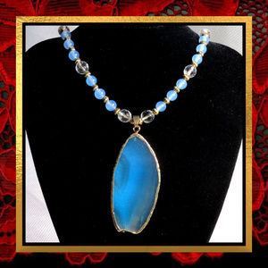 OOAK New Agate & Chalcedony Necklace #316